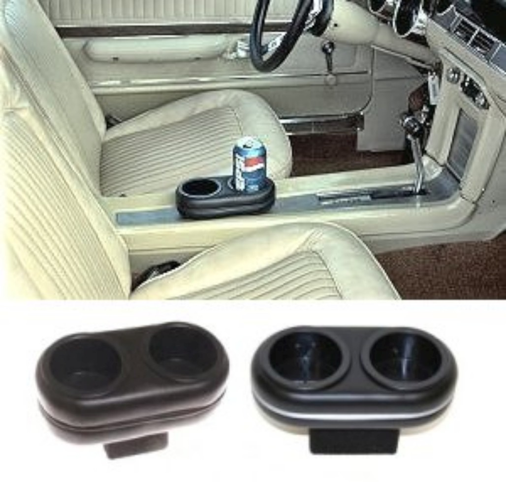 Cup Holder Insert - Plug-N-Chug Console - New ~ 1968 - 1969 Mercury Cougar / 1968 - 1969 Ford Mustang